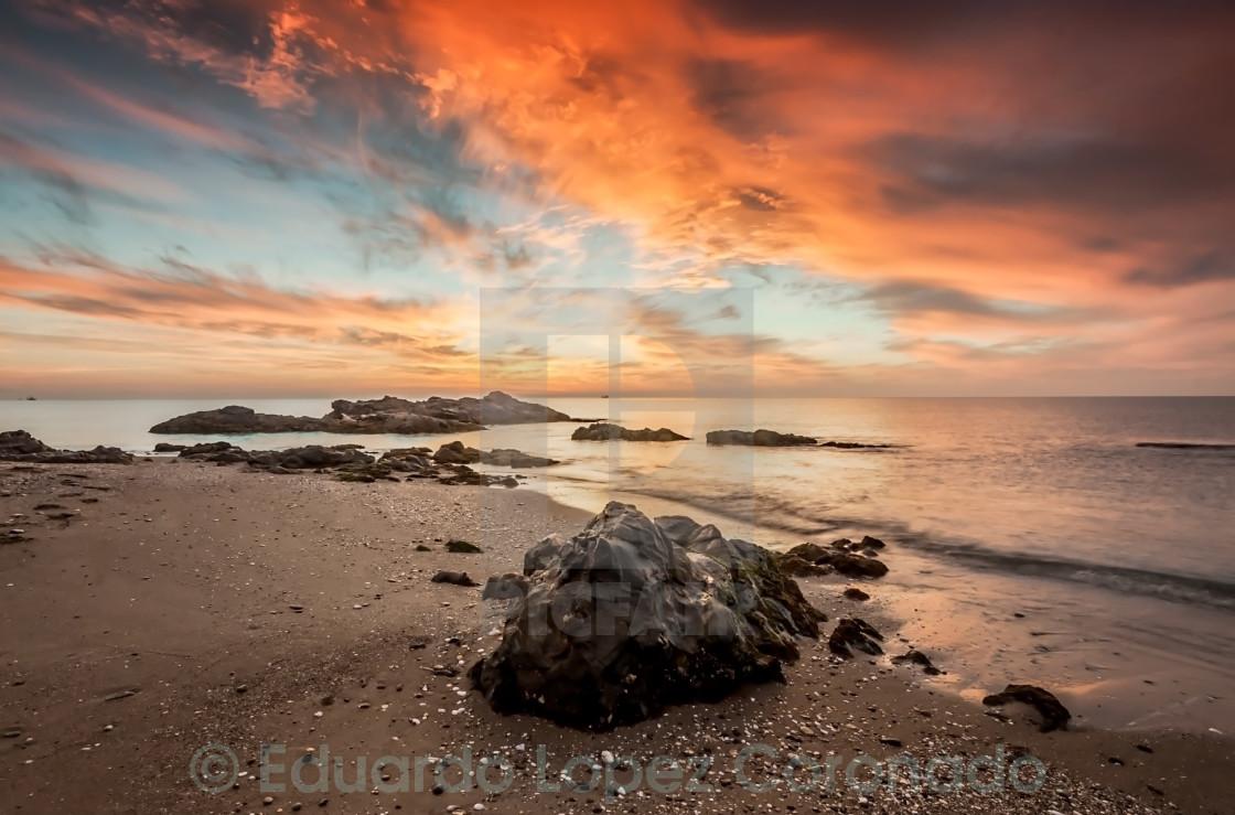 """Sunset sea"" stock image"