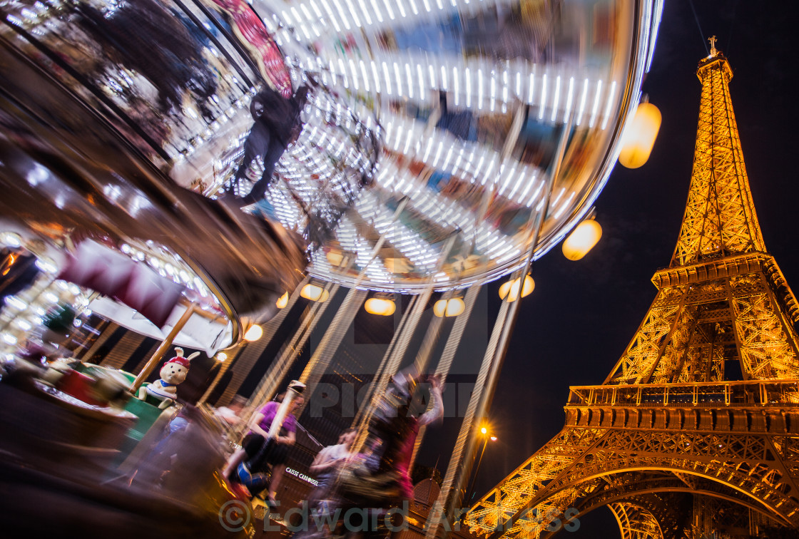 """""""Eiffel Tower by night"""" stock image"""
