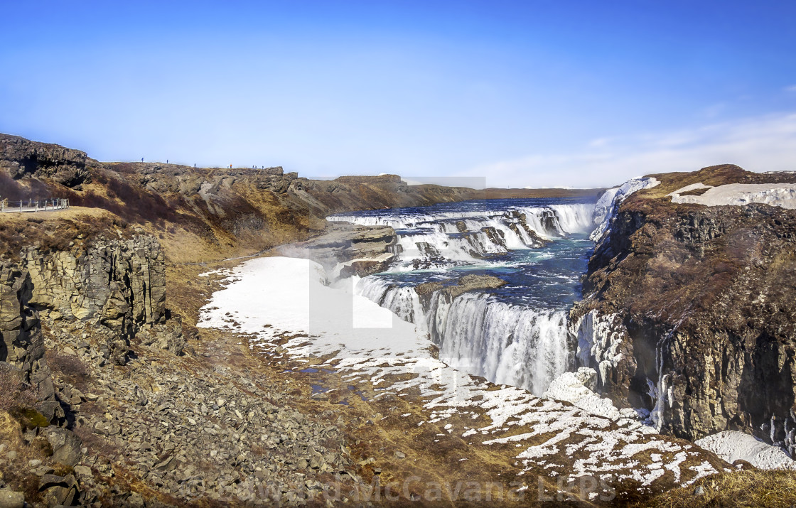 """GULLFOSS FALL"" stock image"