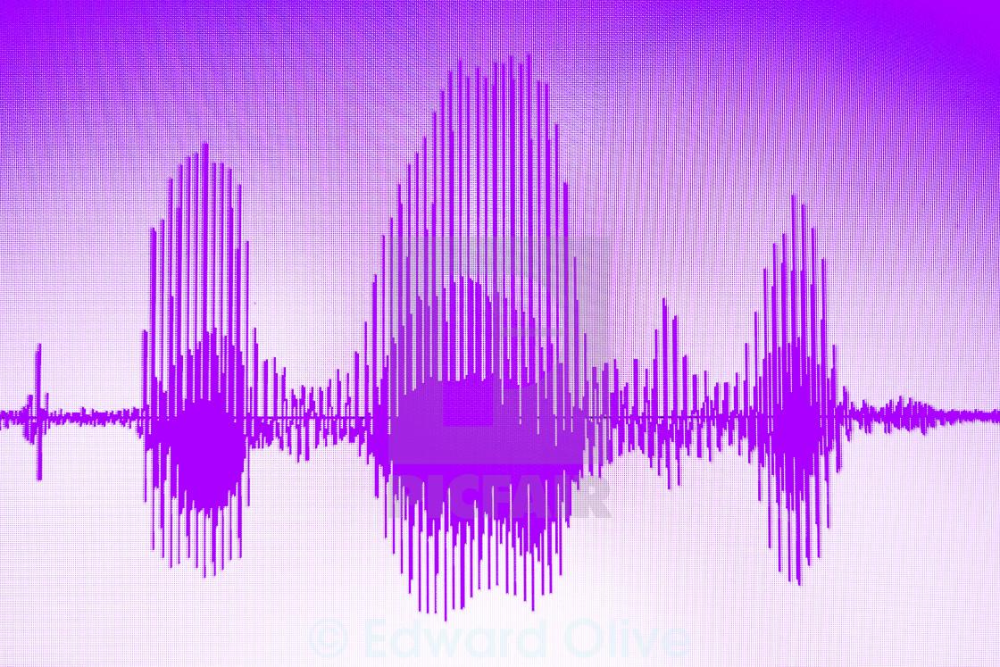Audio studio voice recording sound wave - License, download