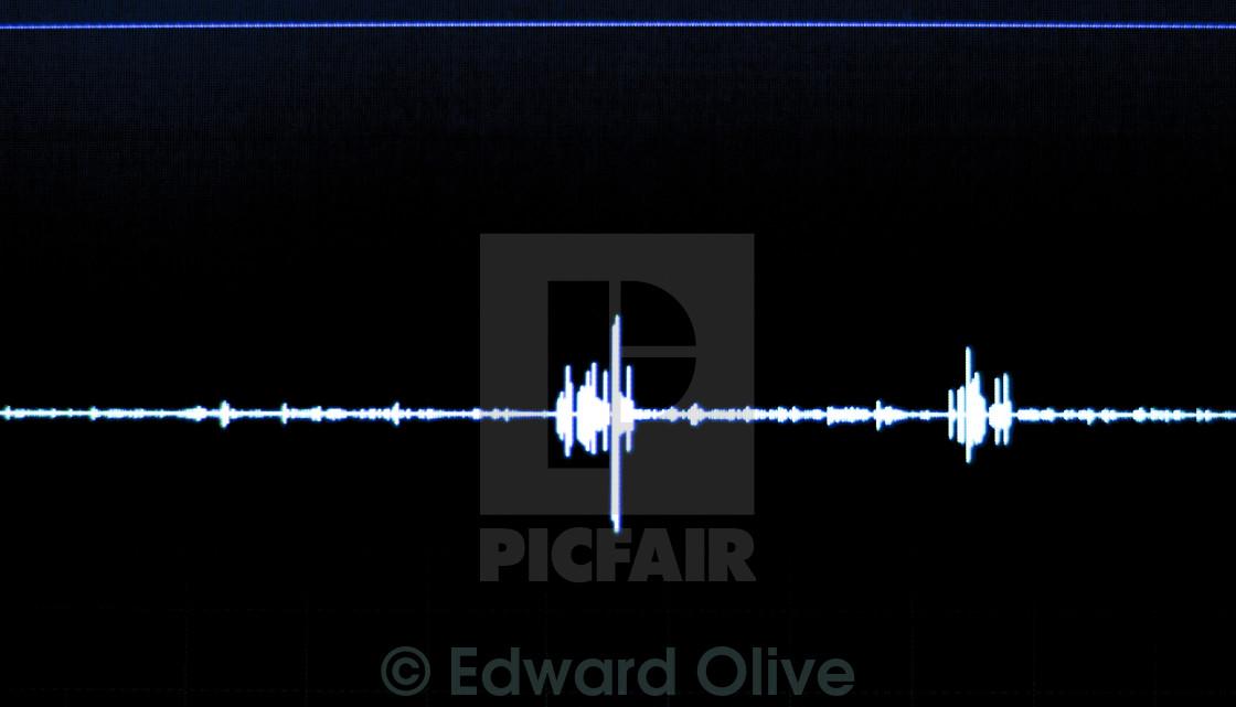 Audio studio voice recording sound wave - License, download or print
