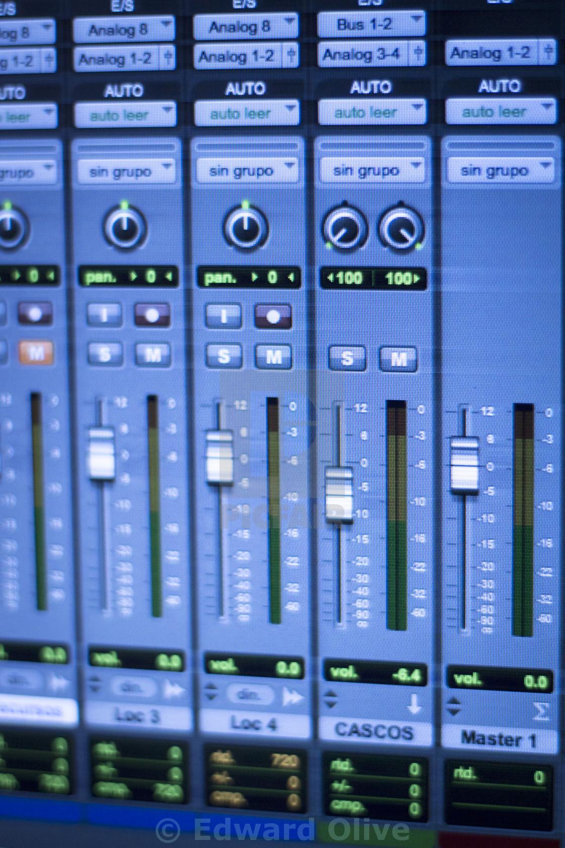Sound recording audio studio - License, download or print for £12 39