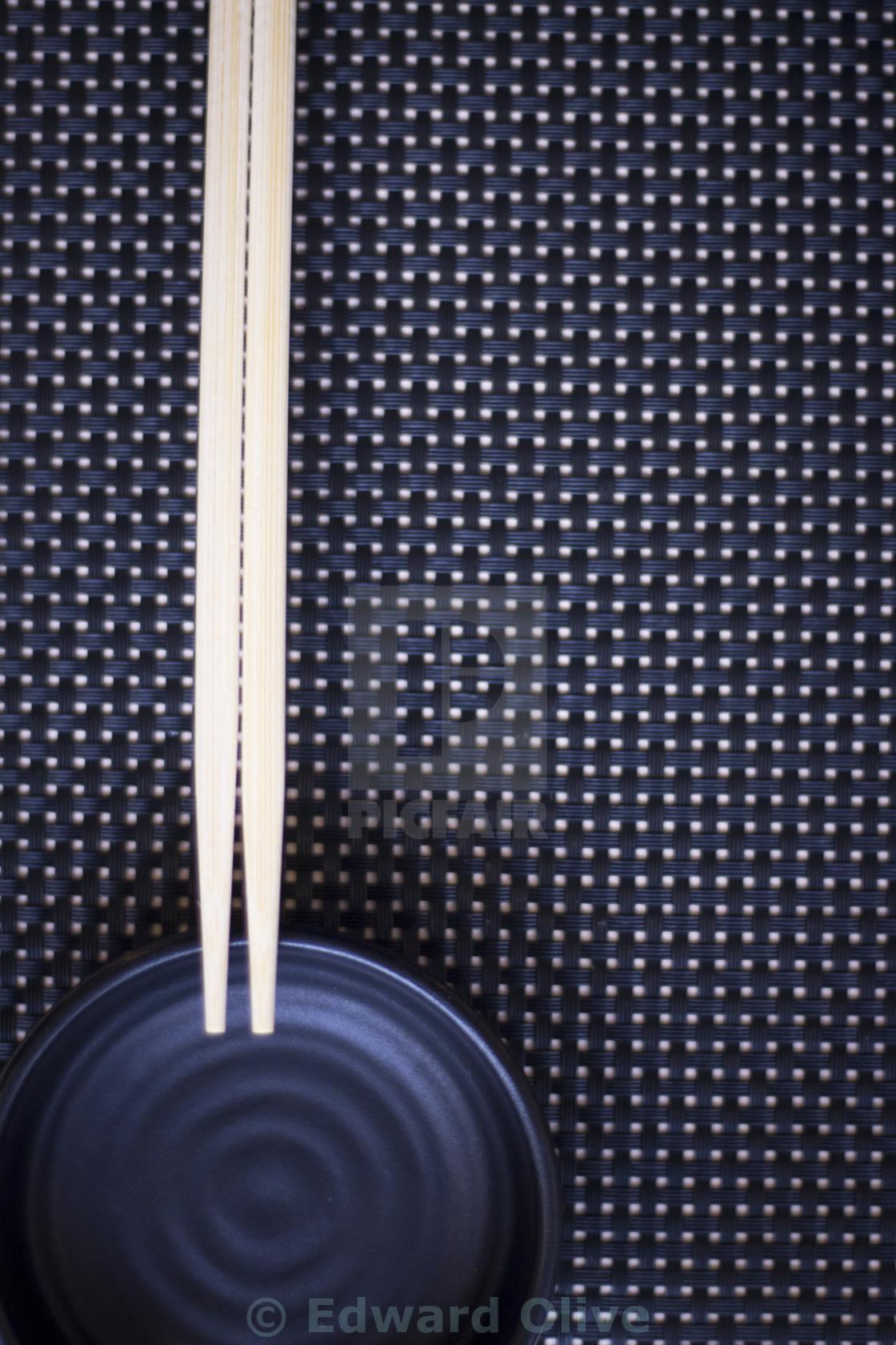 """""""Chopsticks in Japanese restaurant"""" stock image"""