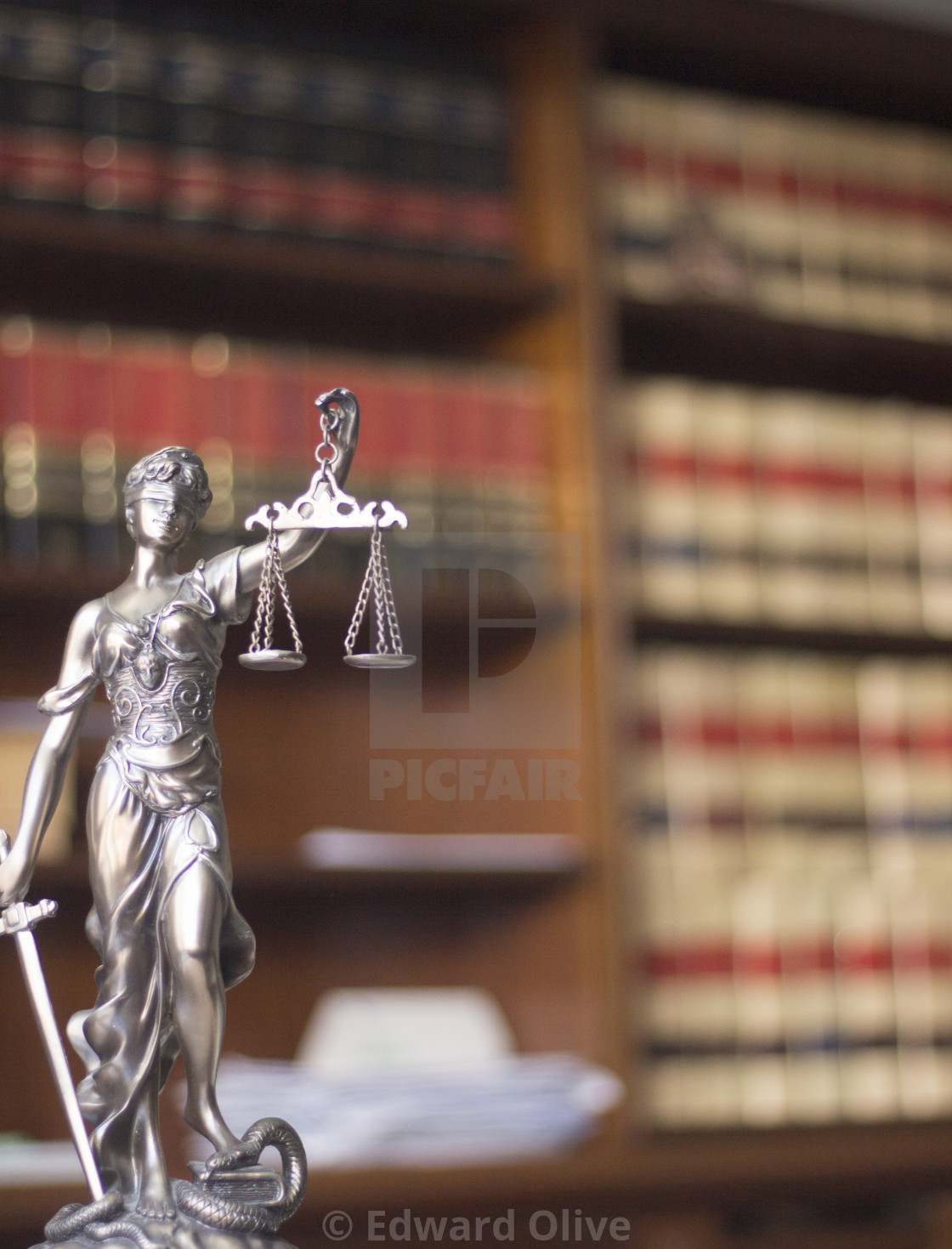 """Law offices legal statue Themis"" stock image"