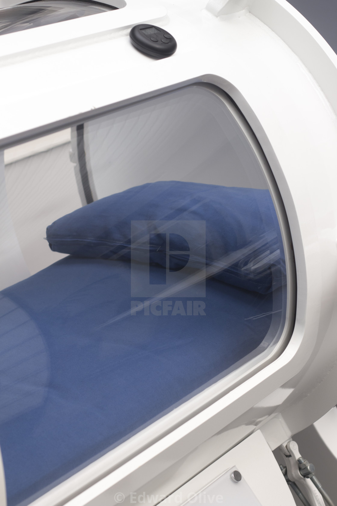 """Hyperbaric oxygen tank chamber"" stock image"