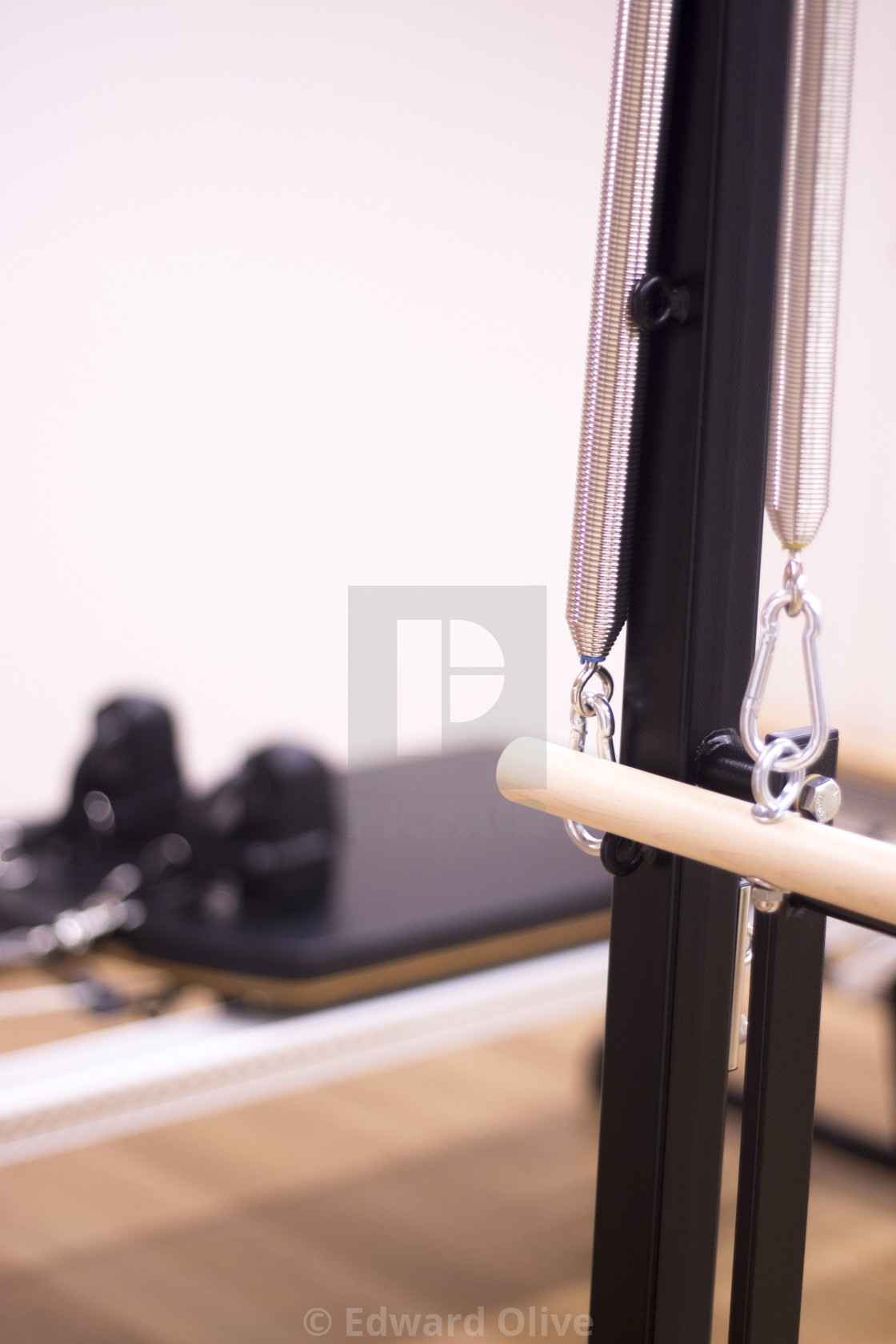 """Pilates studio gym equipment"" stock image"