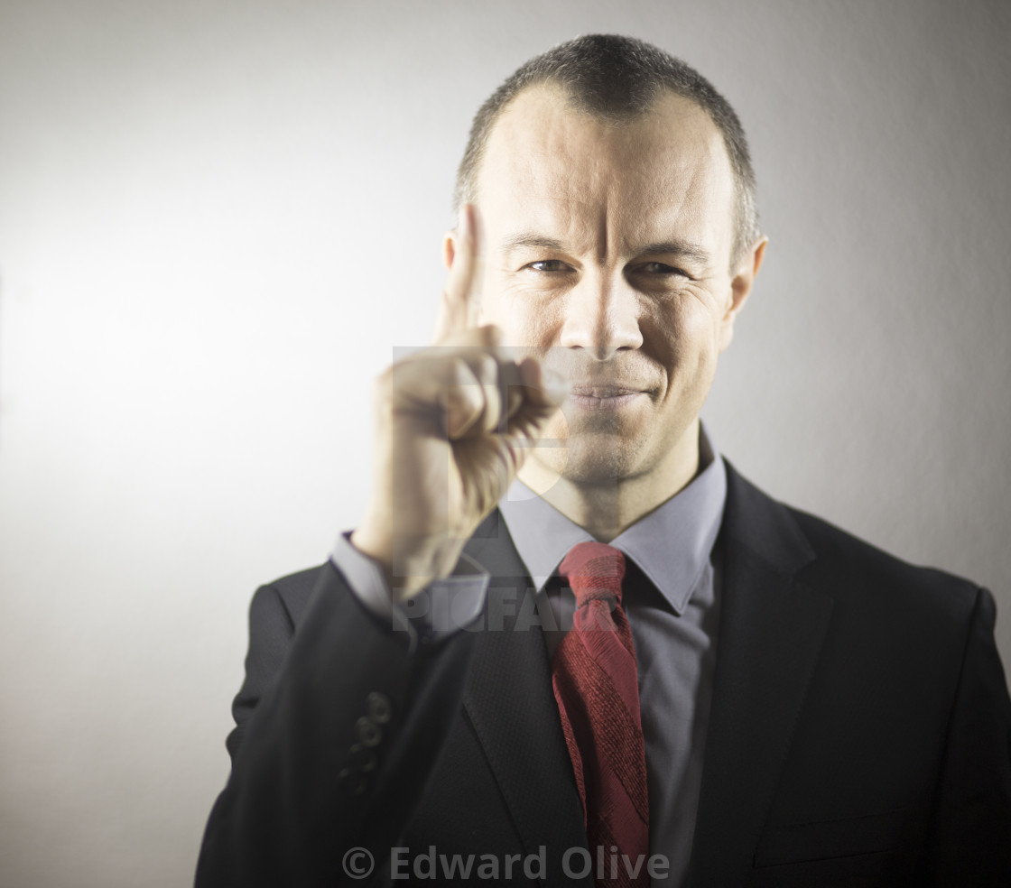 """Businessman in suit aged 40s"" stock image"
