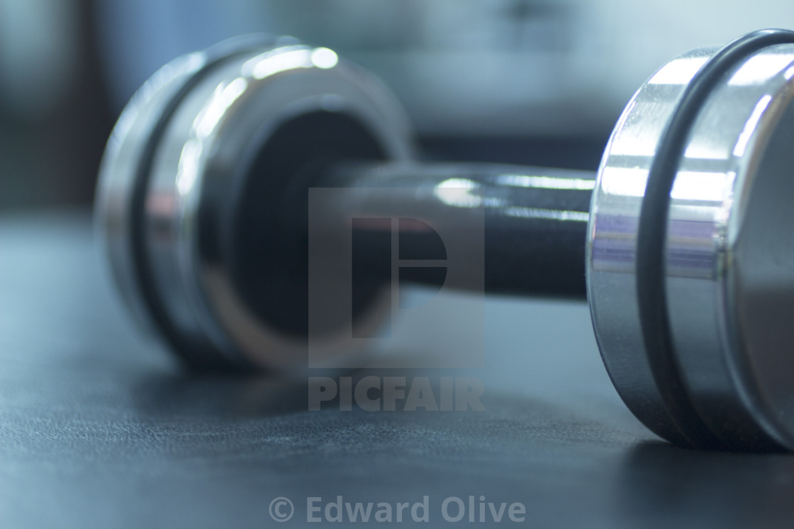 """Gym fitness dumbell weight"" stock image"