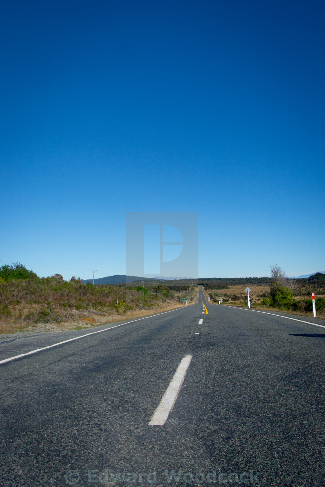 """""""The Open Road"""" stock image"""