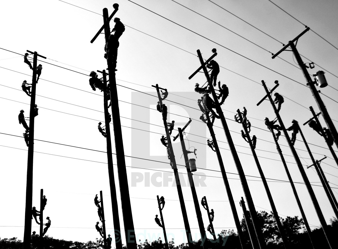 """Linemen"" stock image"