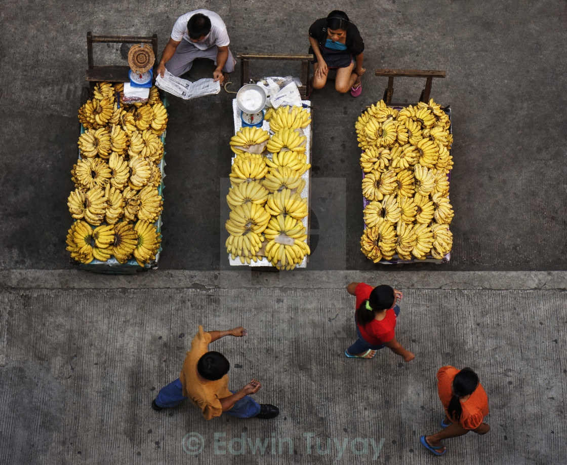 """Banana Vendors"" stock image"