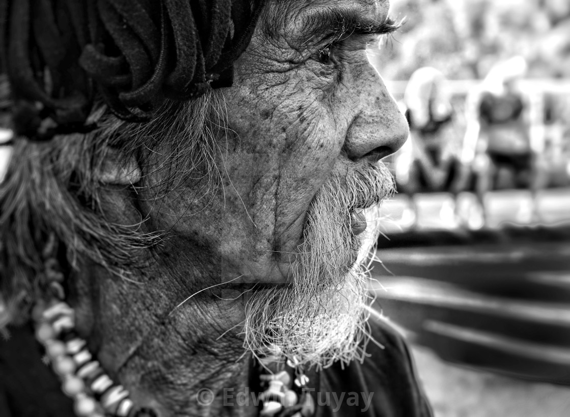 """Old Man, Manila, Philippines"" stock image"