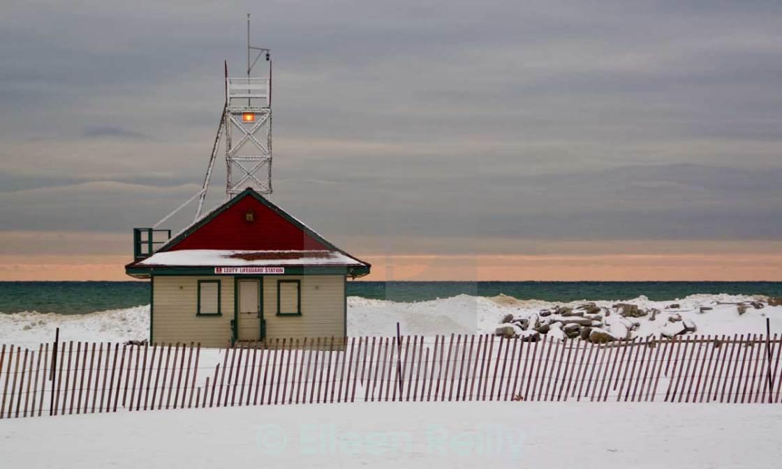 """""""Leuty Lifeguard station, the Beaches, Toronto"""" stock image"""