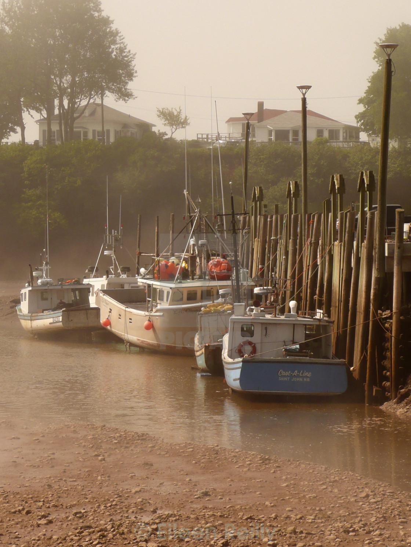 """Boats at the wharf"" stock image"