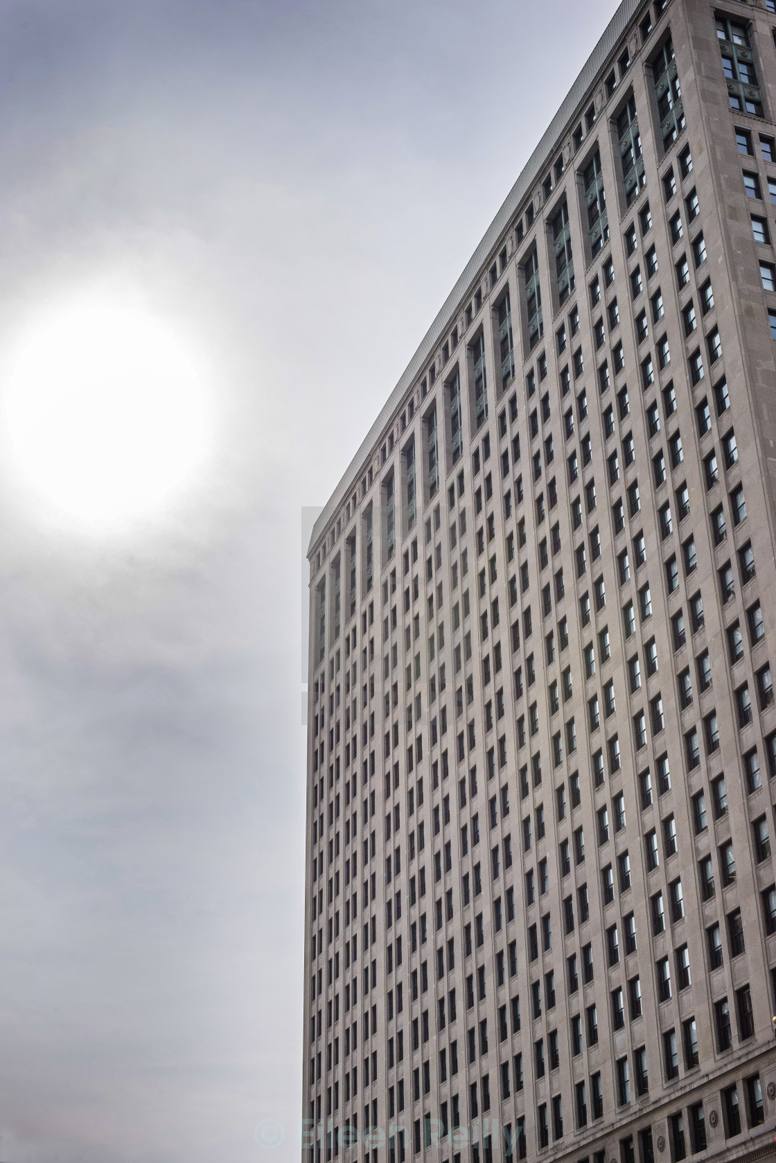 """Sun over Detroit"" stock image"