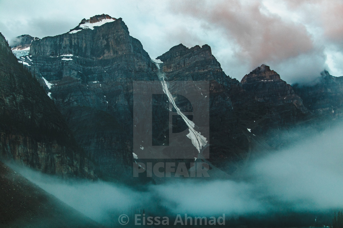 """Moraine Lake at @ 5:00am"" stock image"