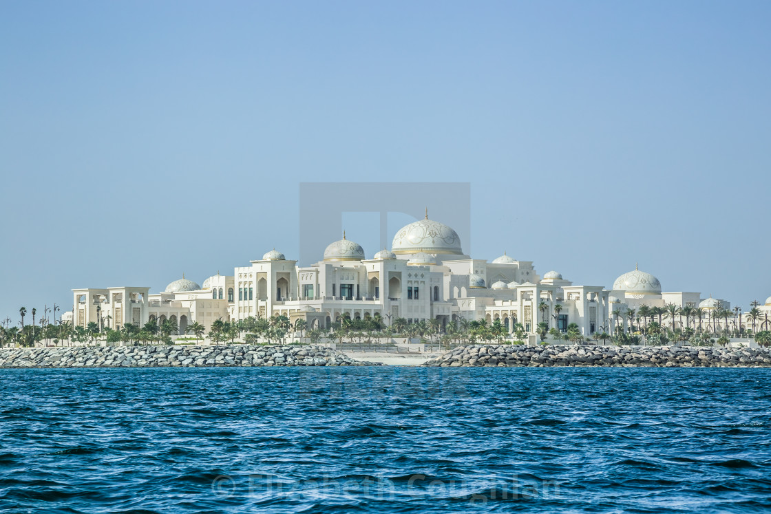 """Presidential Palace, Abu Dhabi, United Arab Emirates"" stock image"