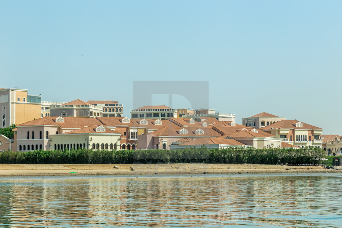 """Venetian Village, Abu Dhabi, United Arab Emirates"" stock image"