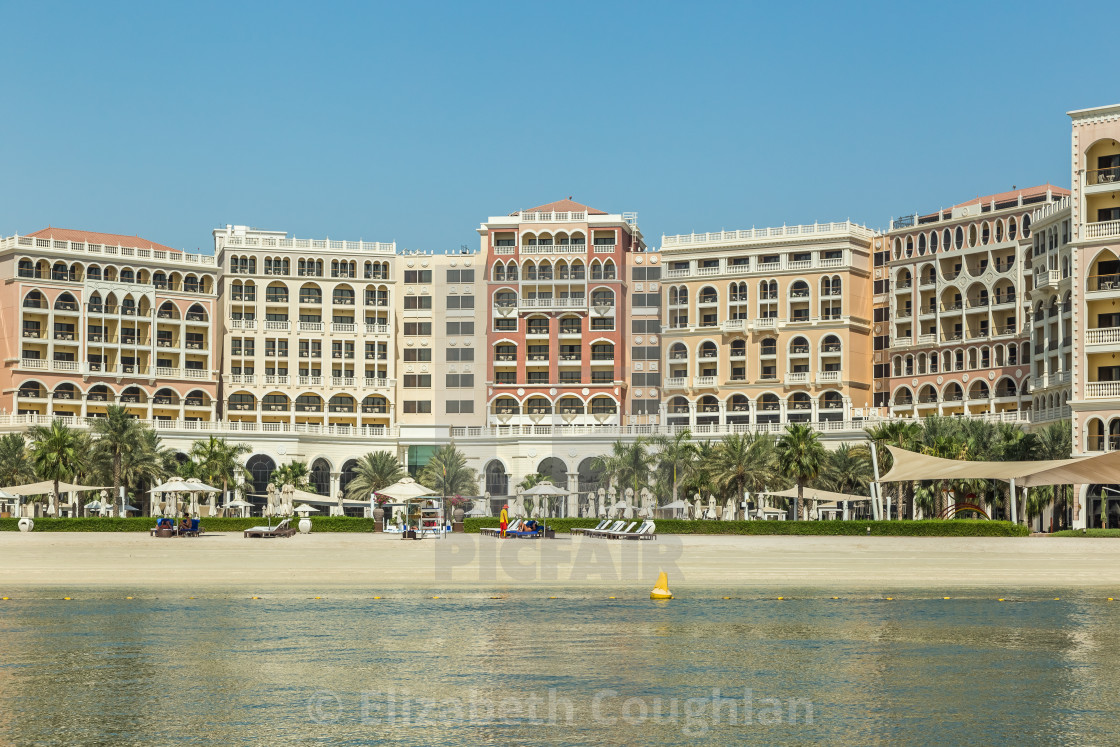 """Ritz-Carlton Hotel, United Arab Emirates, Abu Dhabi"" stock image"