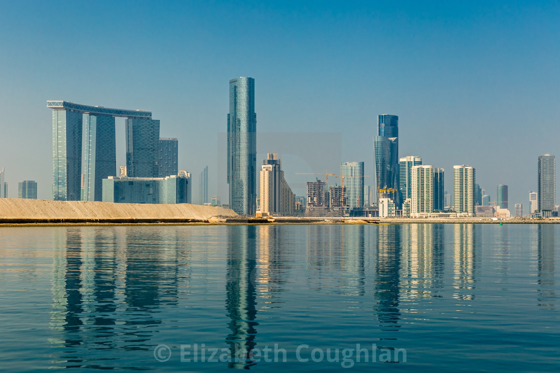 """Buildings on Al Reem Island, Abu Dhabi, United Arab Emirates"" stock image"