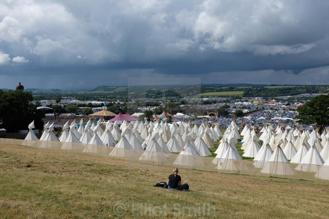 """Glastonbury 2014"" stock image"