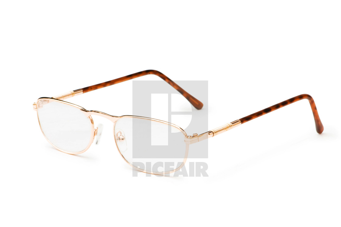 Optical Glasses Isolated On The White Background License