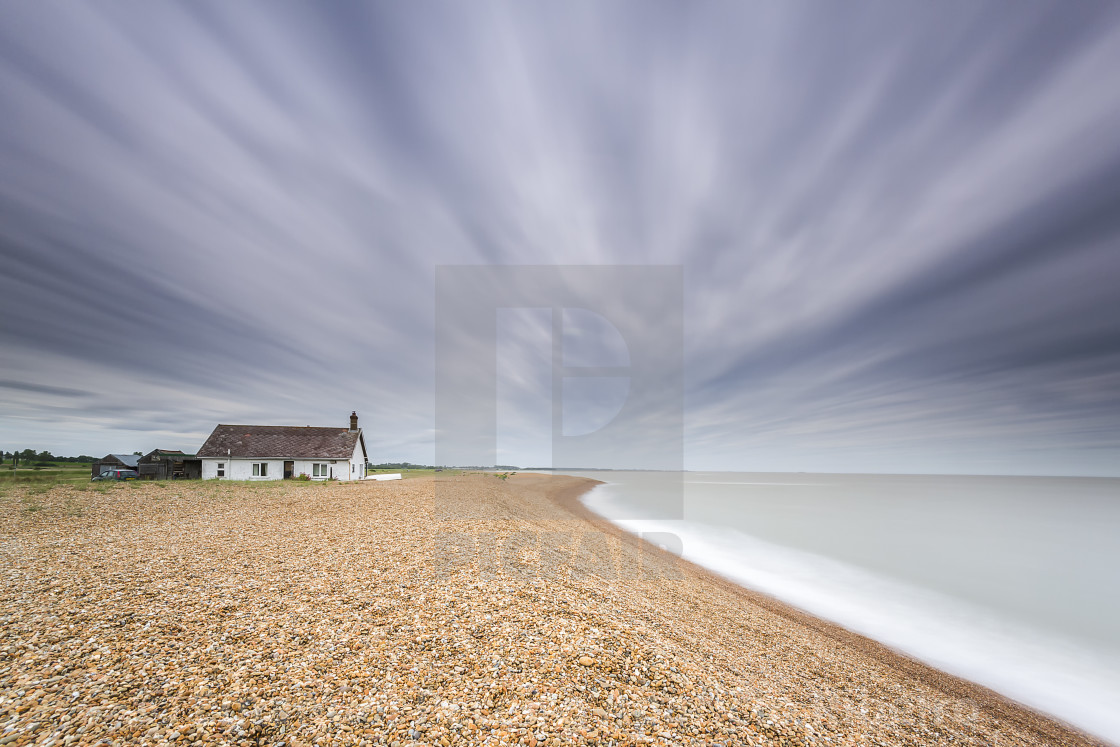"""the cabin on the coast"" stock image"