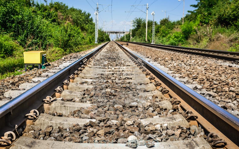 """""""Electric railroad in Romania"""" stock image"""