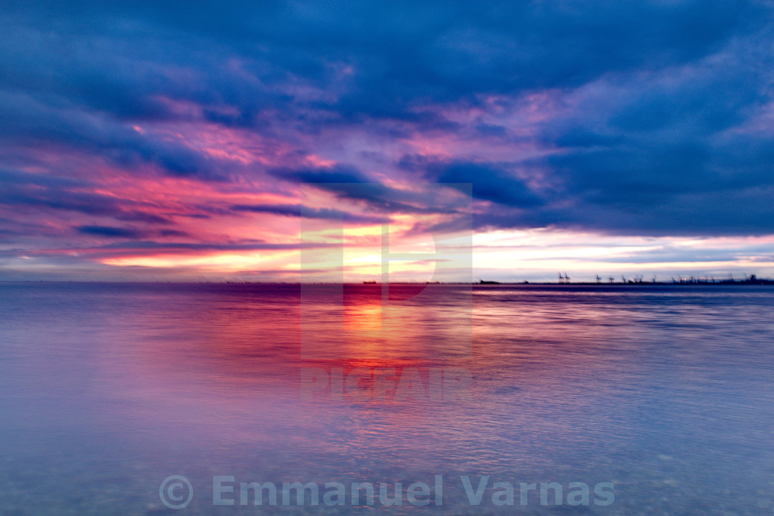 """bright sunset"" stock image"