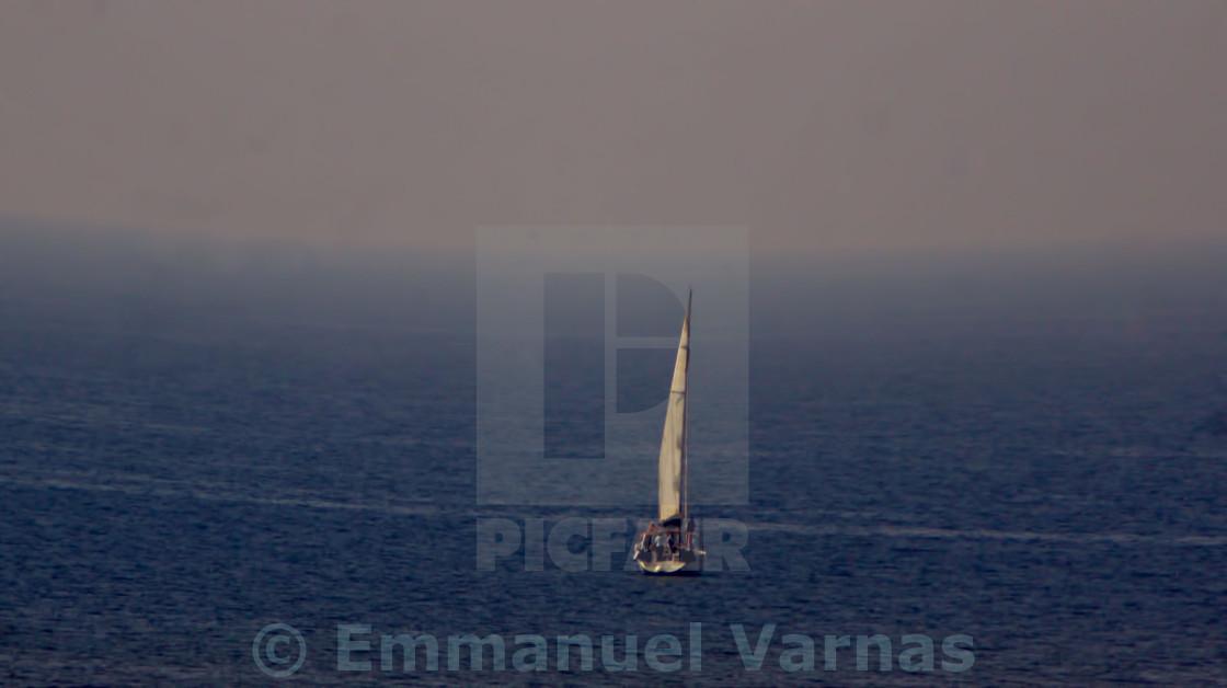 """Sailing in the ocean"" stock image"