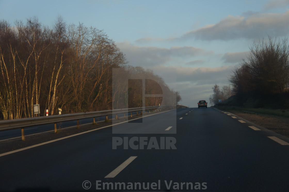 """driving outside paris"" stock image"
