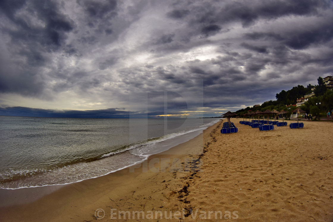 """""""summer beach and sky"""" stock image"""