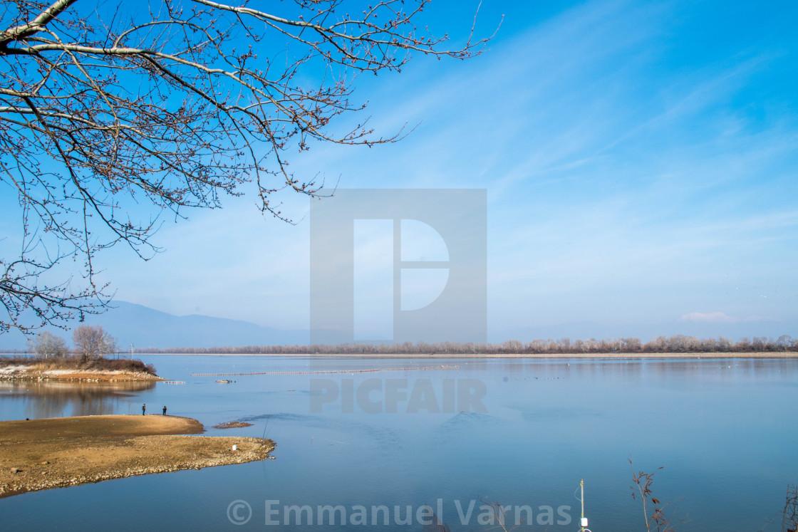 """""""beautiful lake in Greece"""" stock image"""