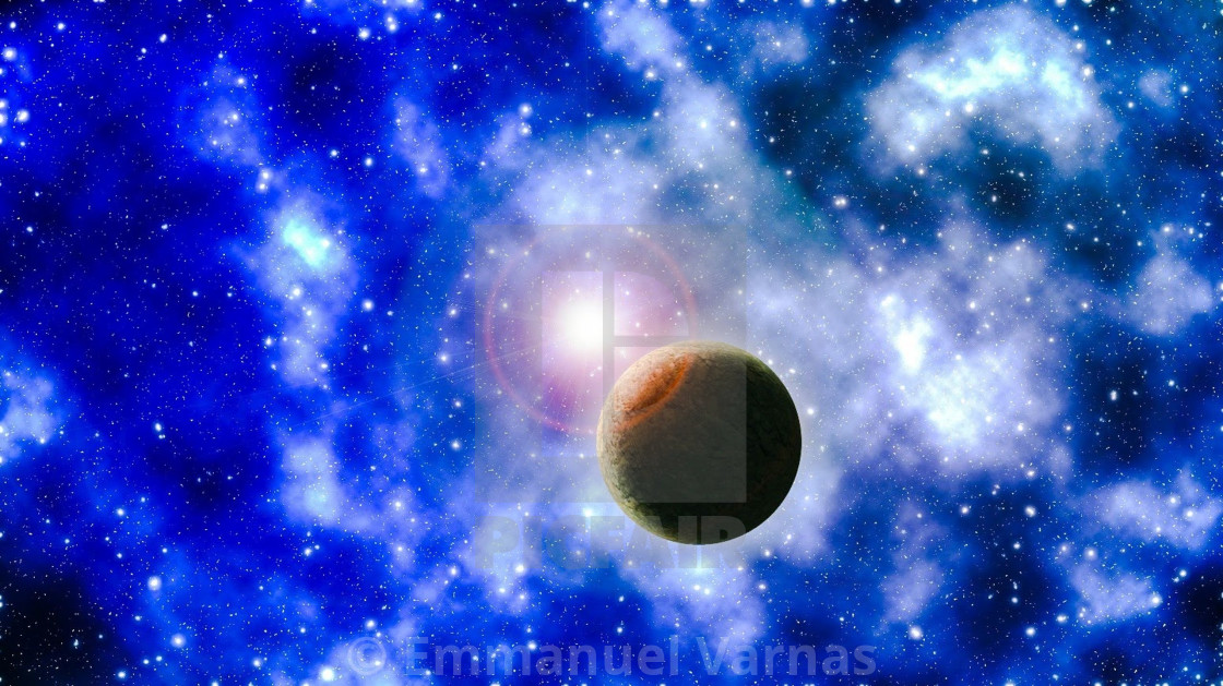 """""""Planet in the universe"""" stock image"""