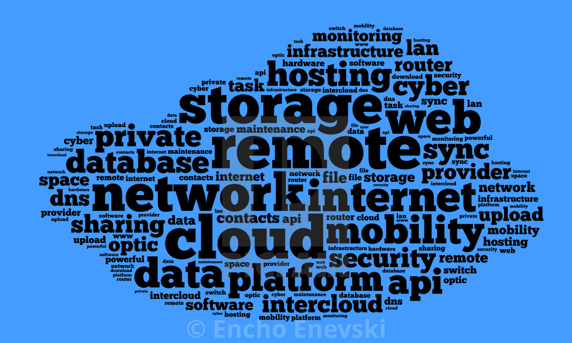 Cloud word cloud concept - License, download or print for £1 24