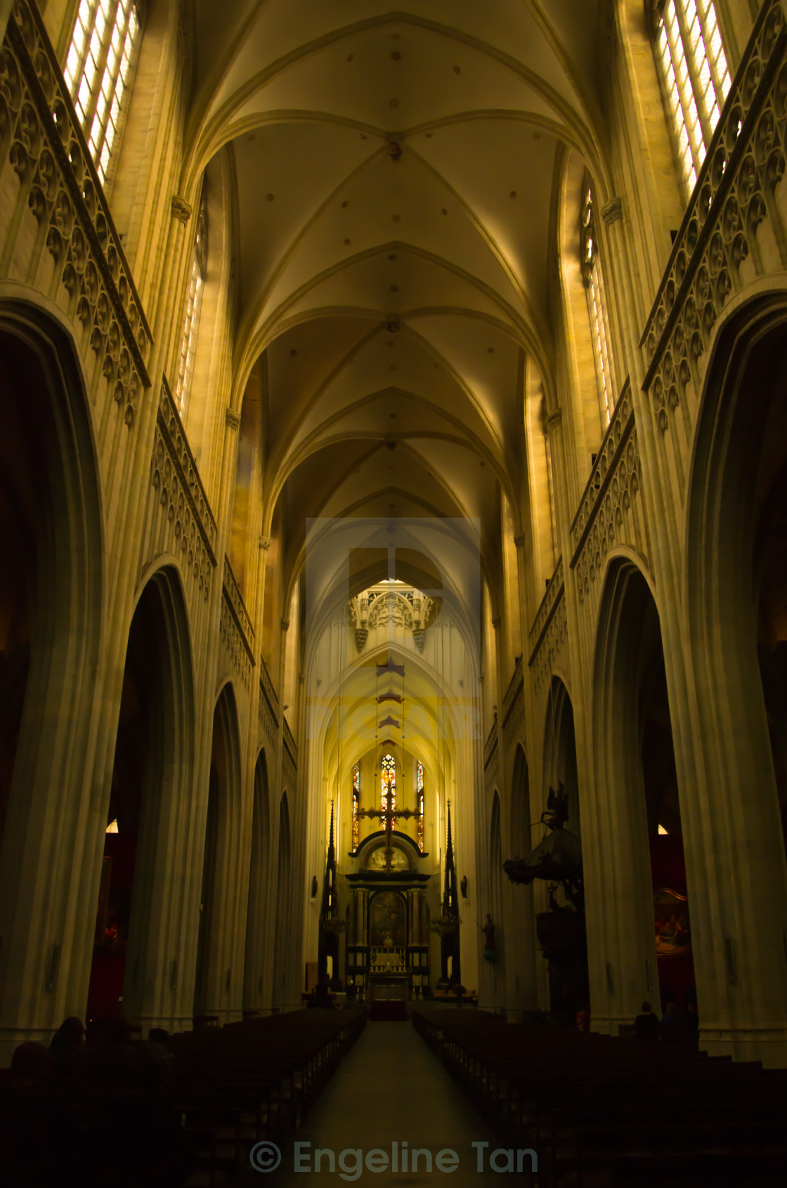 """Our Lady's Cathedral of Antwerp"" stock image"