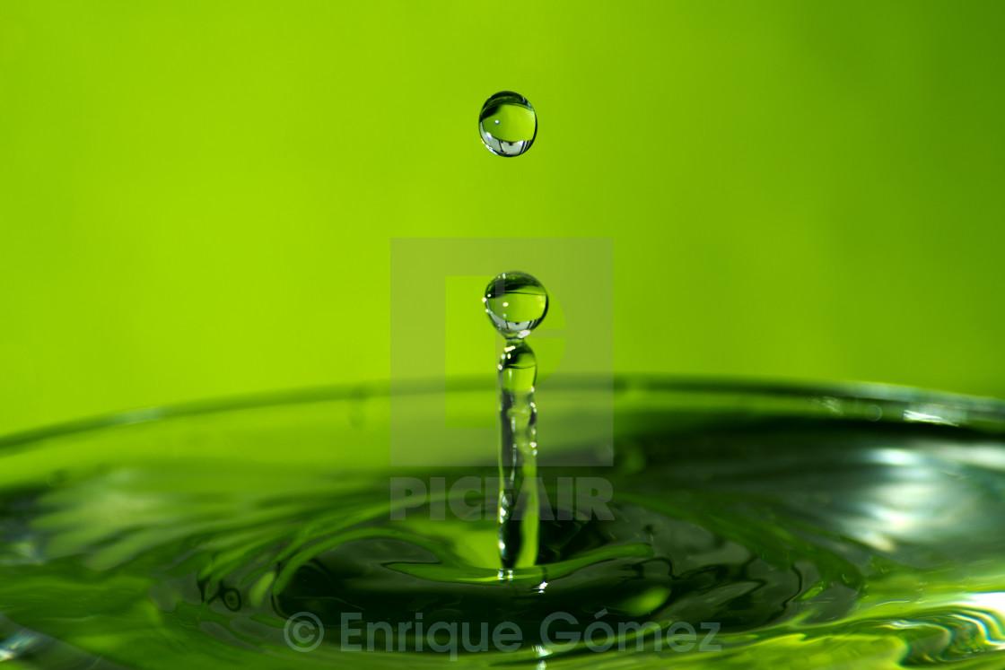 """Water Drop [Green]"" stock image"