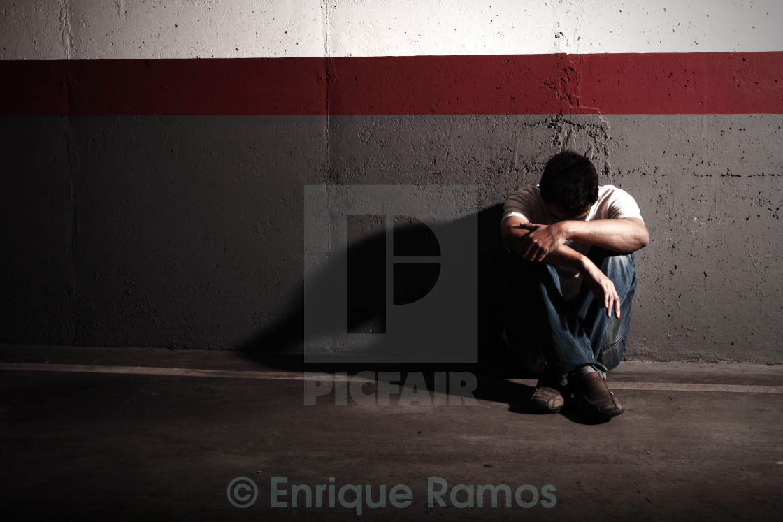 """sad man"" stock image"