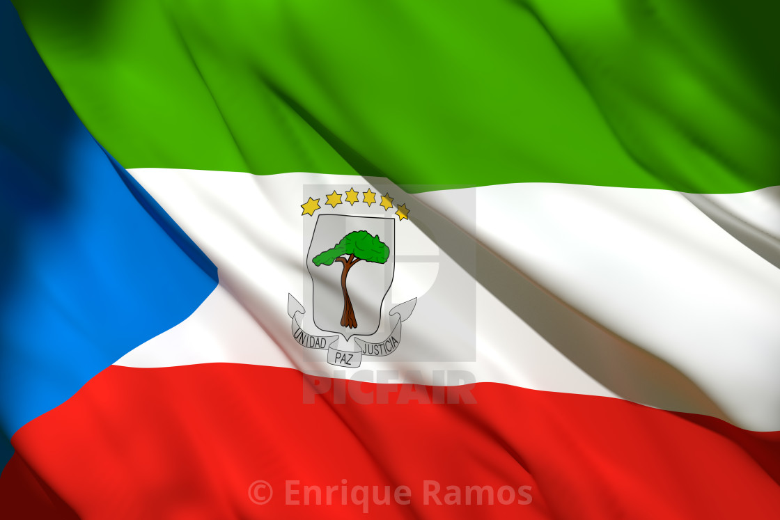 3d Rendering Of Equatorial Guinea Flag License Download