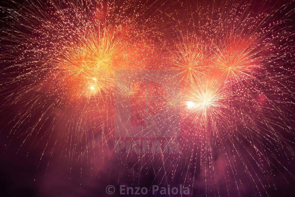 Fireworks on Lake Garda, in Riva del Garda (Italy).