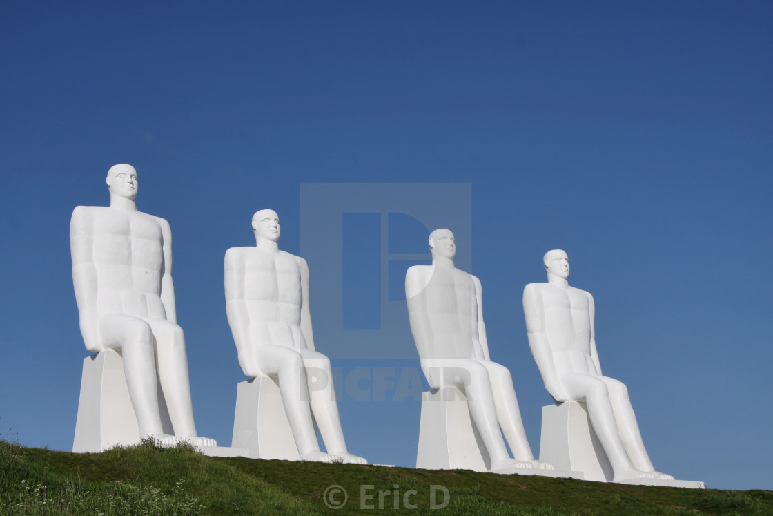 """Men at sea in Esbjerg"" stock image"