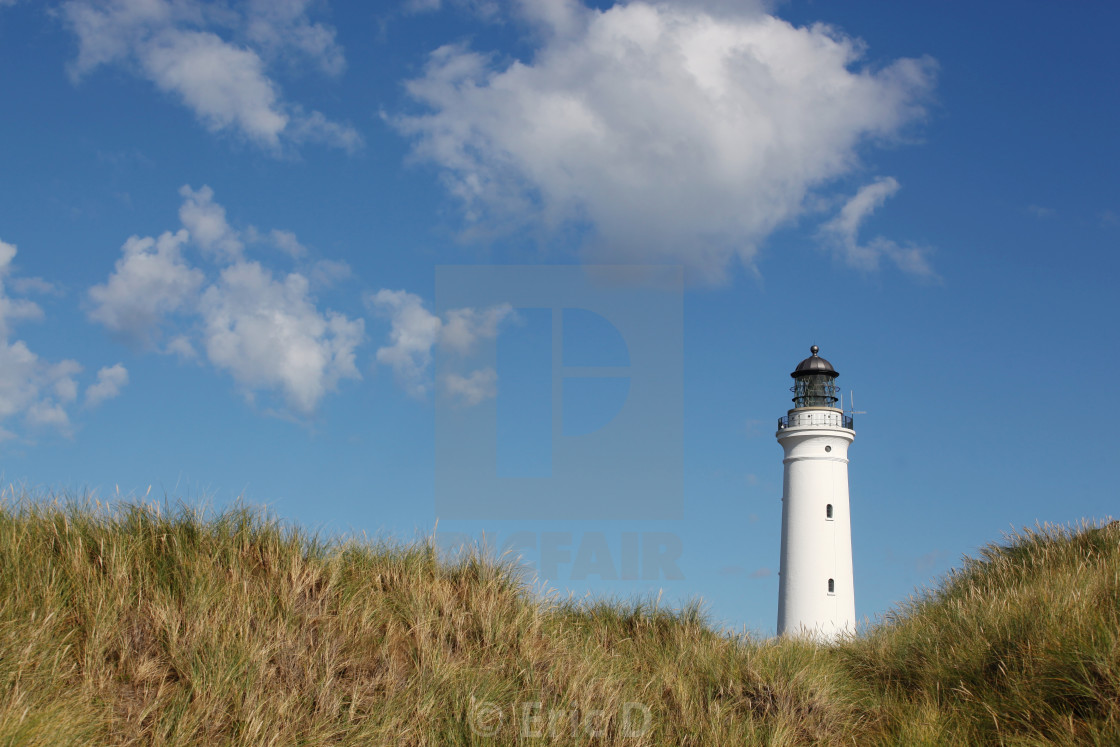 """Hirtshals lighthouse in Denmark"" stock image"