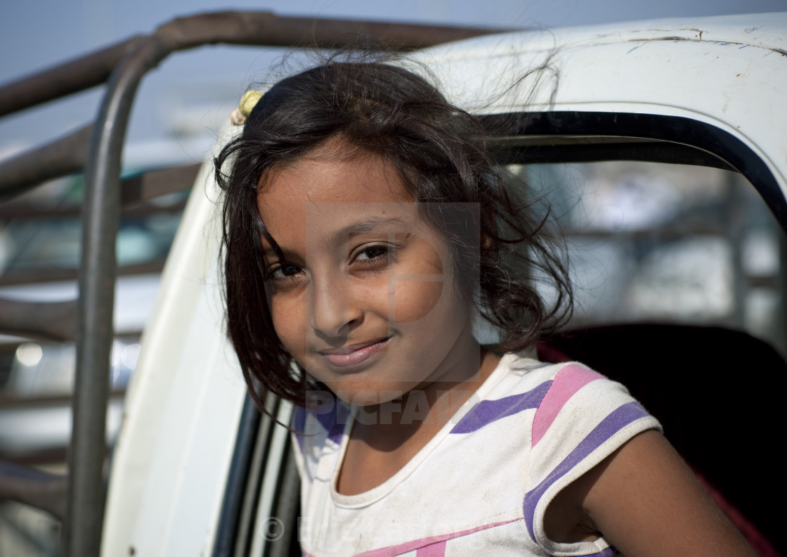 """Girl in sabya, Saudi arabia"" stock image"