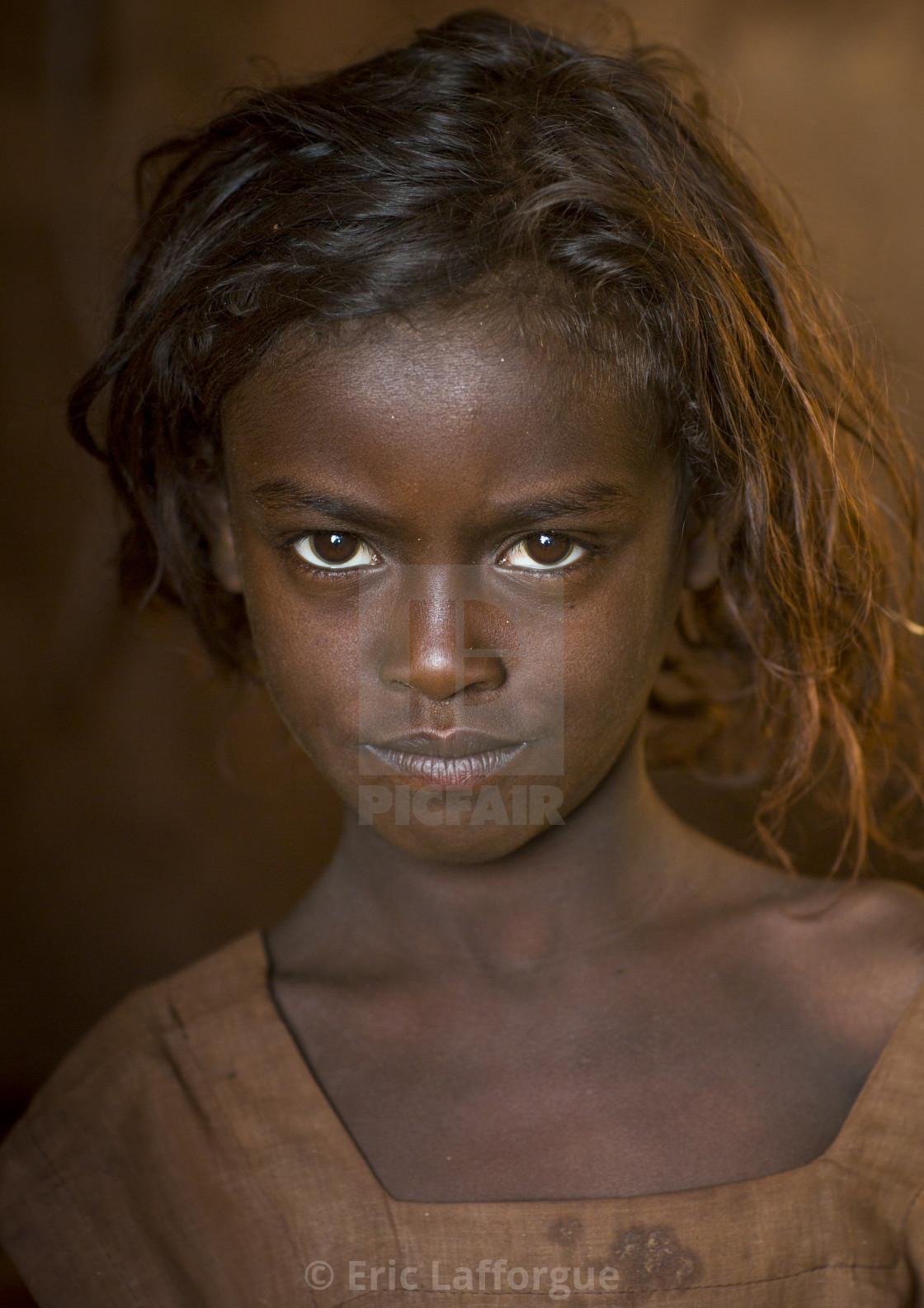 """Borana Tribe Girl, Marsabit District, Marsabit, Kenya"" stock image"