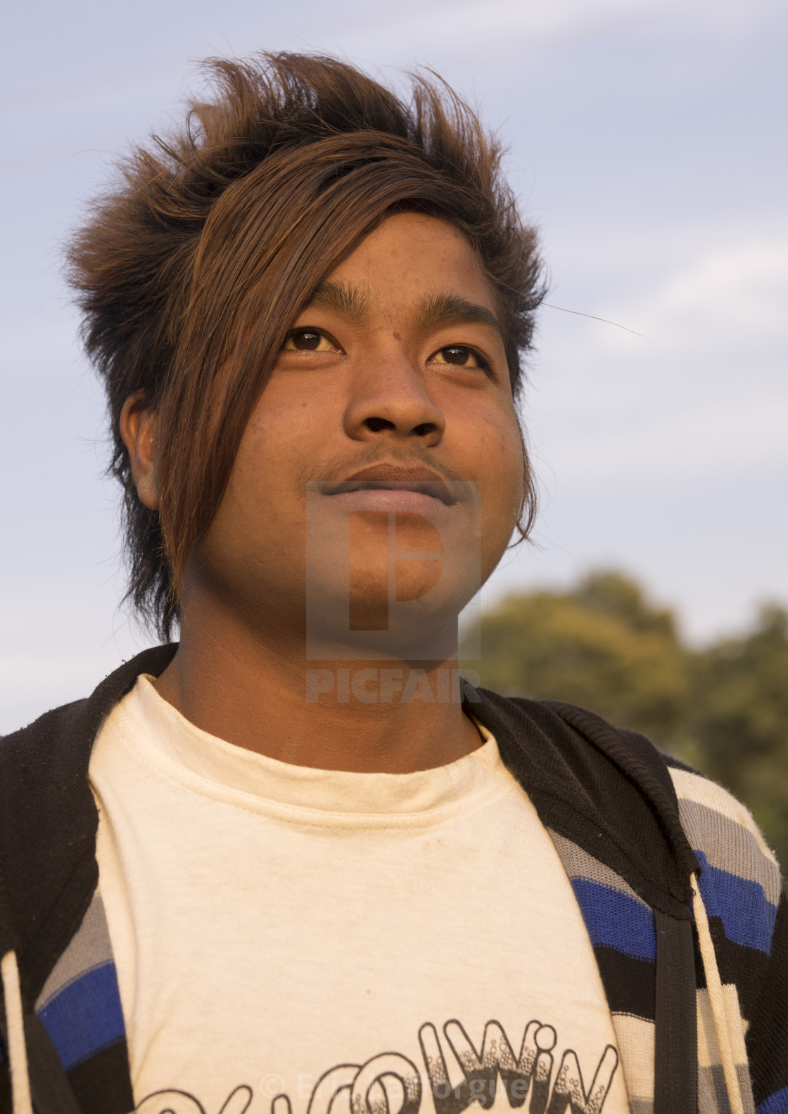 Young Man With A Stylish Haircut Mindat Myanmar License For