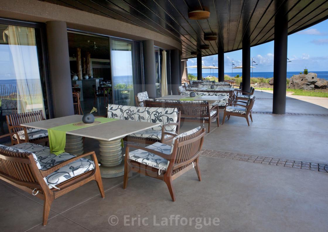 """Restaurant In Hanga Roa Hotel, Chile"" stock image"
