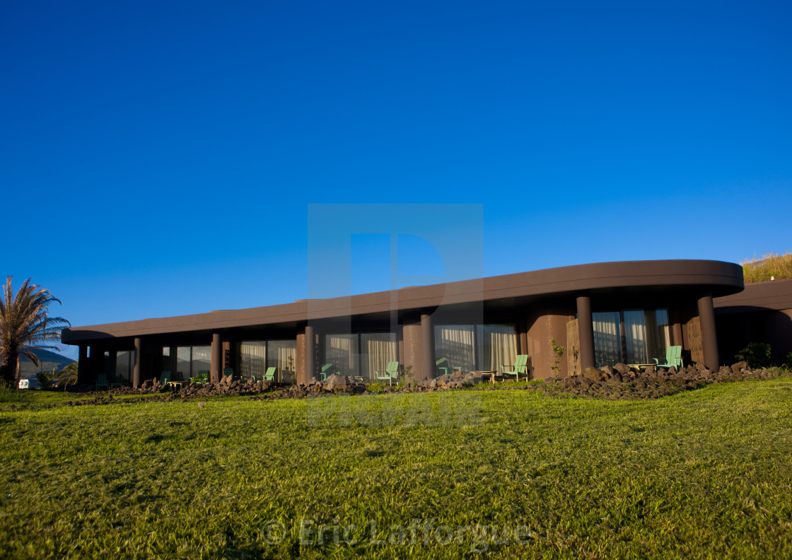 """Hanga Roa Hotel, Chile"" stock image"
