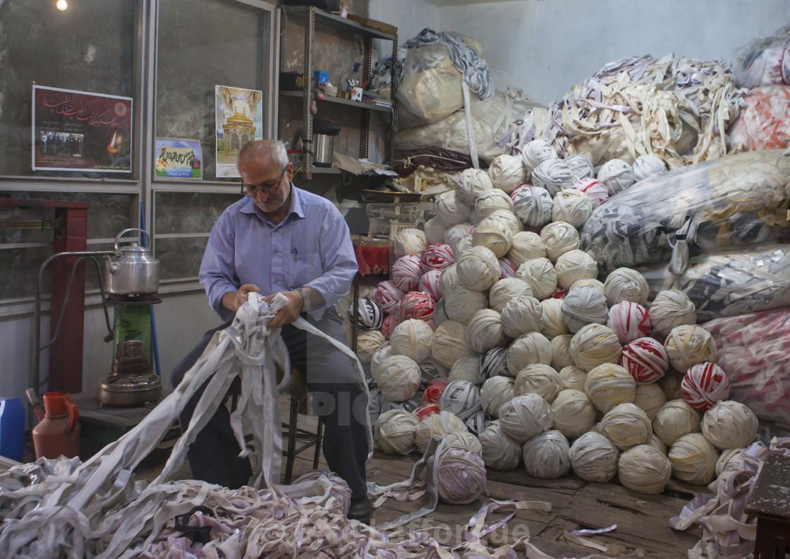 Man Inside The Old Bazaar, Tabriz, Iran - License, download or print