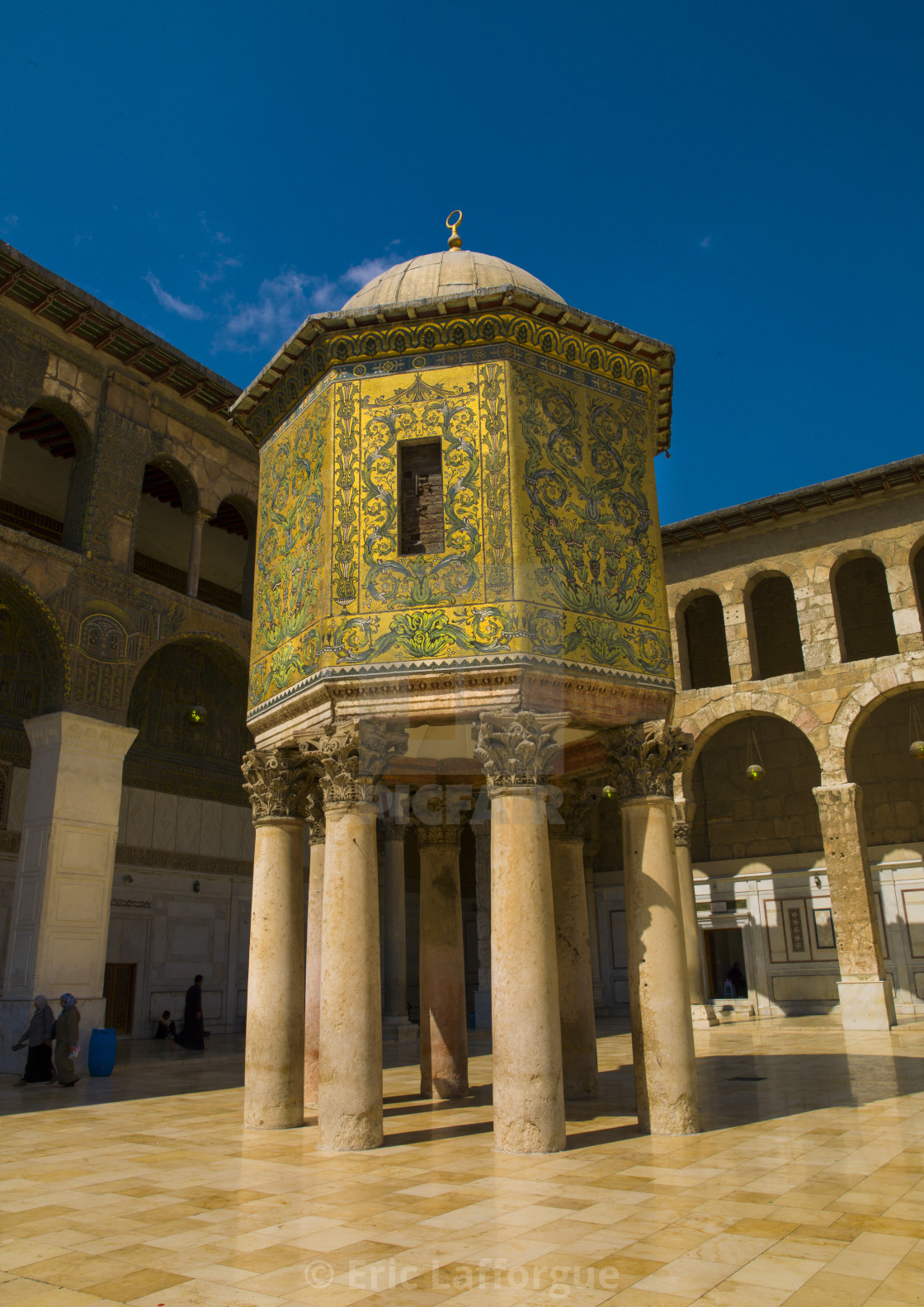 The Dome of the Treasury In Umayyad Mosque courtyard