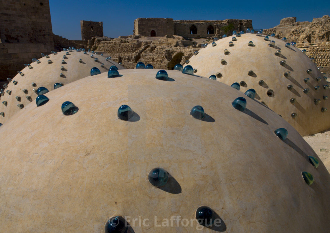 """Baths Domes Inside The Aleppo Citadel, Syria"" stock image"